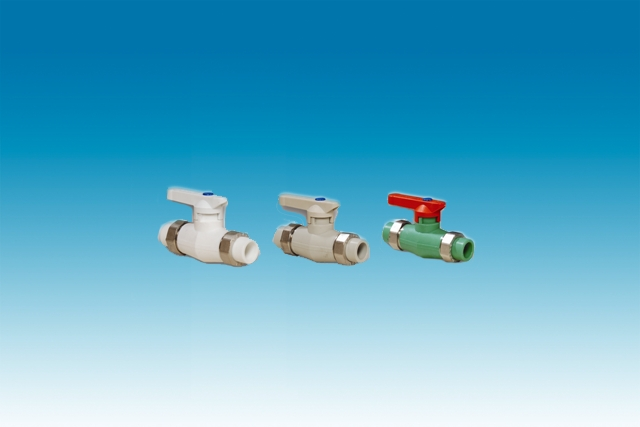 BALL VALVE WITH DOUBLE TRANSITION UNION