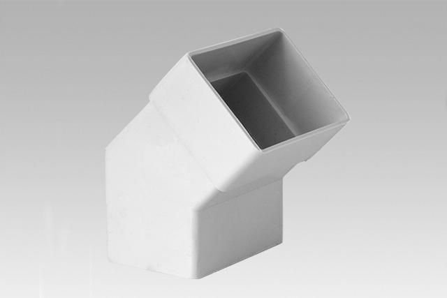 RECTANGULAR DOWNSPOUT EXTENSION ELBOW 45°